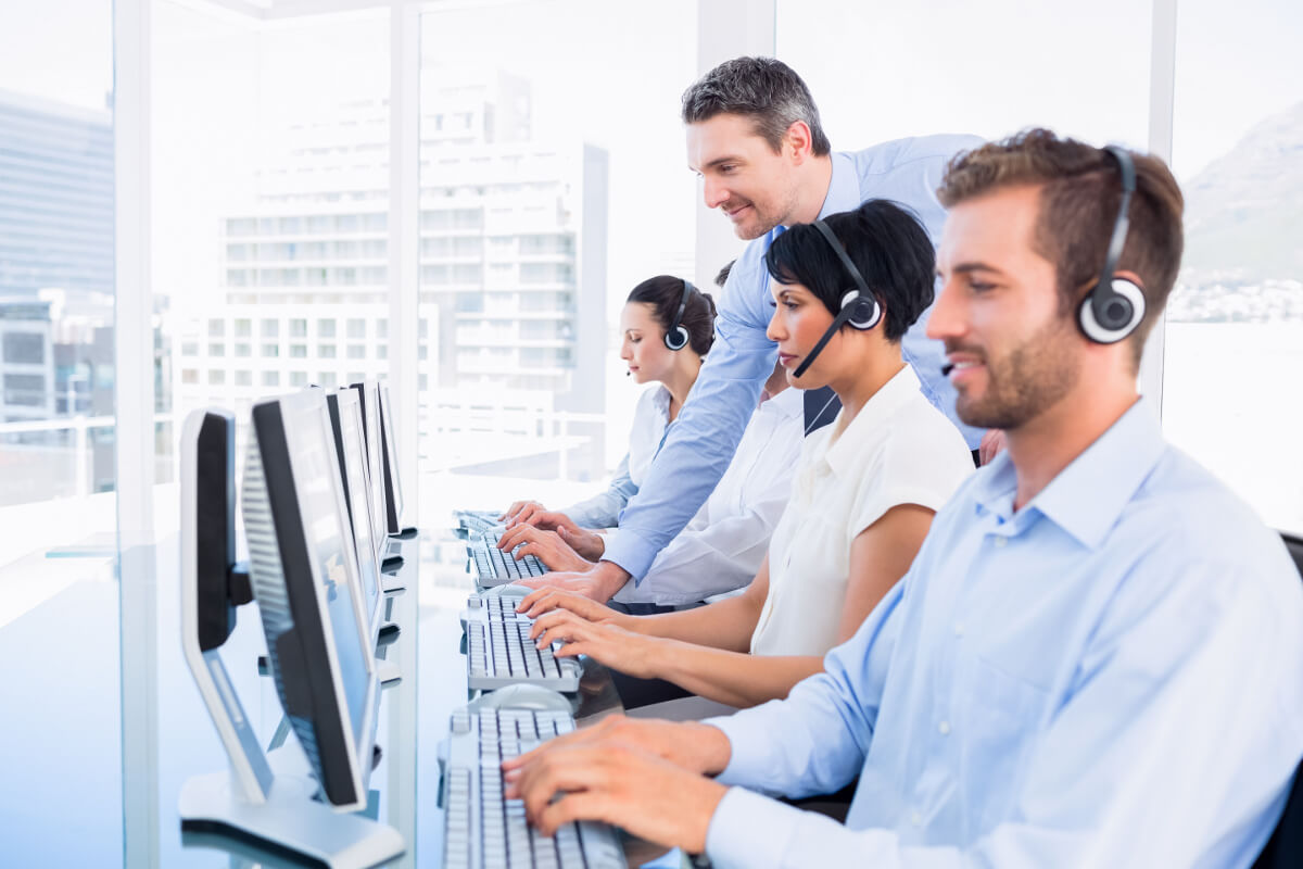Customer Service Team at Computer Stations